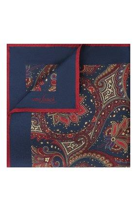 Мужской шелковый платок VAN LAACK бордового цвета, арт. LE0N/Z10320   Фото 1