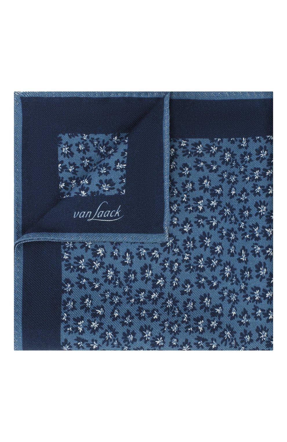 Мужской платок из шерсти и шелка VAN LAACK синего цвета, арт. LE0N/Z10325   Фото 1