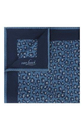 Мужской платок из шерсти и шелка VAN LAACK синего цвета, арт. LE0N/Z10325 | Фото 1