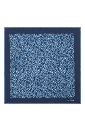 Мужской платок из шерсти и шелка VAN LAACK синего цвета, арт. LE0N/Z10325   Фото 3
