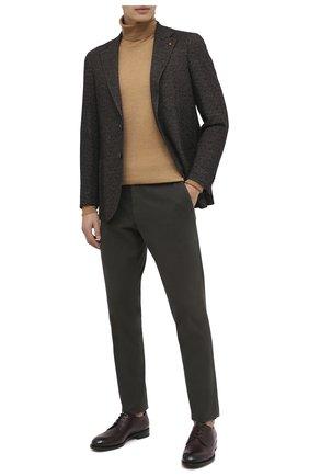 Мужской кожаные дерби ZEGNA COUTURE бордового цвета, арт. A4418X-LHBEP | Фото 2