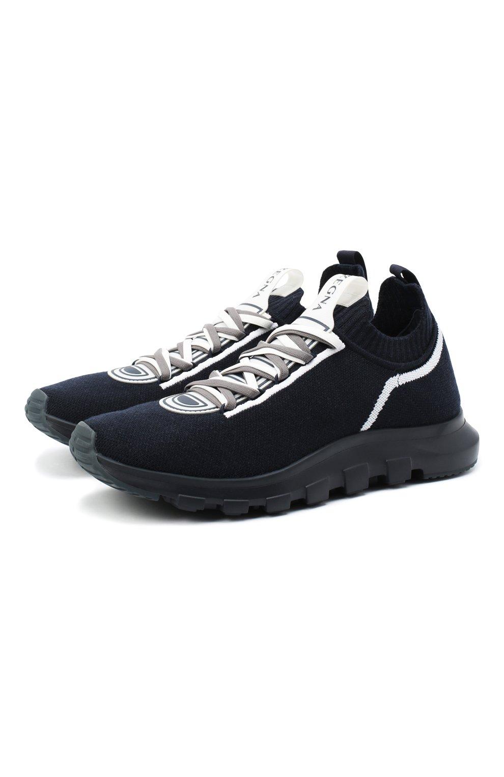 Мужские текстильные кроссовки Z ZEGNA синего цвета, арт. A4643X-LHTPU   Фото 1