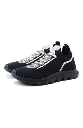 Мужские текстильные кроссовки Z ZEGNA синего цвета, арт. A4643X-LHTPU | Фото 1 (Материал внутренний: Текстиль; Подошва: Массивная; Материал внешний: Текстиль; Стили: Спорт)