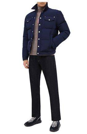 Мужские текстильные кроссовки Z ZEGNA синего цвета, арт. A4643X-LHTPU | Фото 2 (Материал внутренний: Текстиль; Подошва: Массивная; Материал внешний: Текстиль; Стили: Спорт)
