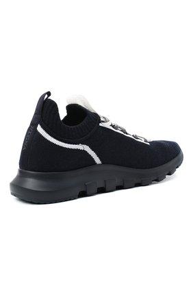 Мужские текстильные кроссовки Z ZEGNA синего цвета, арт. A4643X-LHTPU   Фото 4
