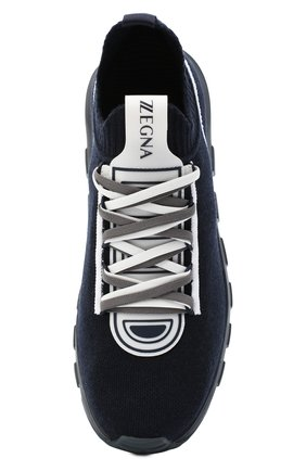 Мужские текстильные кроссовки Z ZEGNA синего цвета, арт. A4643X-LHTPU   Фото 5