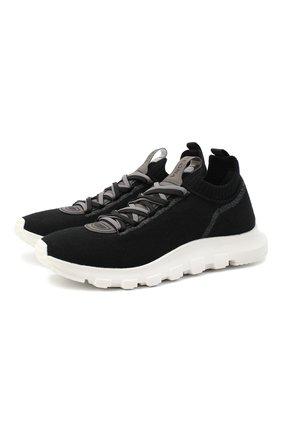 Мужские текстильные кроссовки Z ZEGNA черного цвета, арт. A4643X-LHTPU | Фото 1