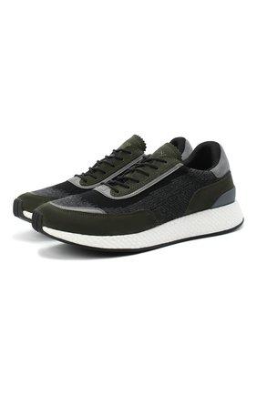 Мужские комбинированные кроссовки Z ZEGNA зеленого цвета, арт. A4721X-LHWSD | Фото 1