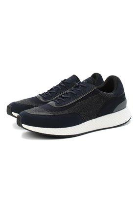 Мужские комбинированные кроссовки Z ZEGNA синего цвета, арт. A4721X-LHWSD | Фото 1