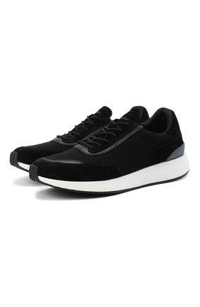 Мужские комбинированные кроссовки Z ZEGNA черного цвета, арт. A4721X-LHWSD | Фото 1