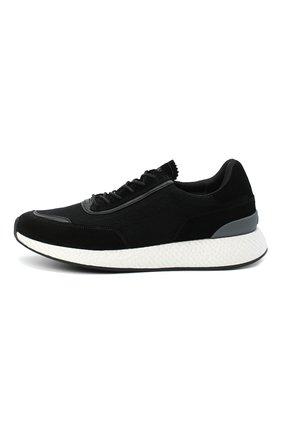 Мужские комбинированные кроссовки Z ZEGNA черного цвета, арт. A4721X-LHWSD   Фото 3