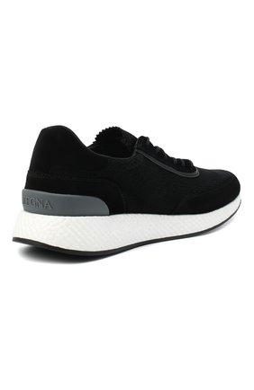 Мужские комбинированные кроссовки Z ZEGNA черного цвета, арт. A4721X-LHWSD   Фото 4
