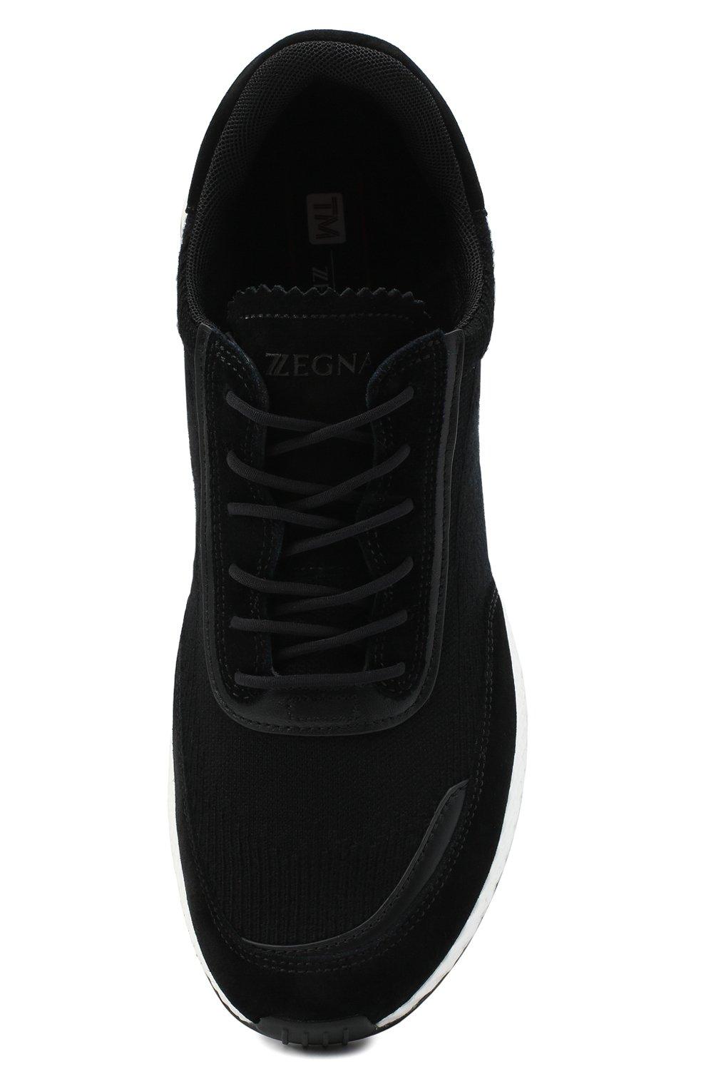Мужские комбинированные кроссовки Z ZEGNA черного цвета, арт. A4721X-LHWSD   Фото 5