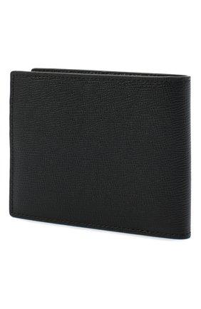 Мужской кожаное портмоне MCM черного цвета, арт. MXS AALM01   Фото 2