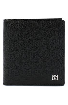 Мужской кожаный футляр для кредитных карт MCM черного цвета, арт. MXS AALM02   Фото 1