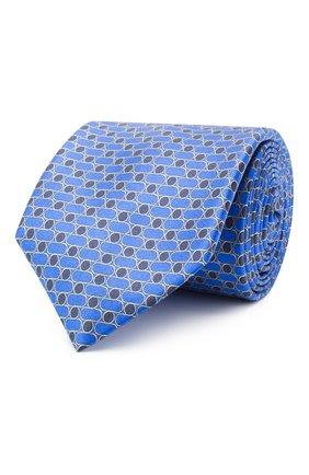 Мужской шелковый галстук ZILLI синего цвета, арт. 51120/TIE | Фото 1