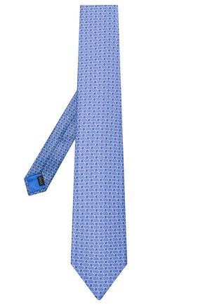 Мужской шелковый галстук ZILLI синего цвета, арт. 51120/TIE | Фото 2
