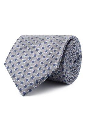 Мужской шелковый галстук ZILLI серого цвета, арт. 51120/TIE | Фото 1
