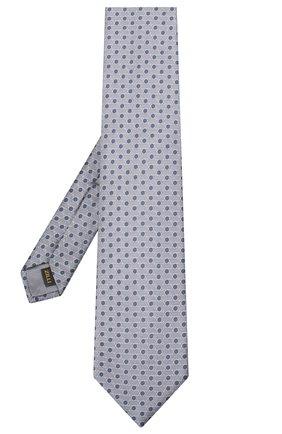 Мужской шелковый галстук ZILLI серого цвета, арт. 51120/TIE | Фото 2