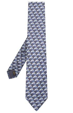 Мужской шелковый галстук ZILLI синего цвета, арт. 51102/TIE | Фото 2