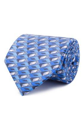 Мужской шелковый галстук ZILLI синего цвета, арт. 51102/TIE | Фото 1