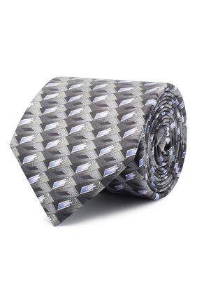 Мужской шелковый галстук ZILLI серого цвета, арт. 51102/TIE | Фото 1