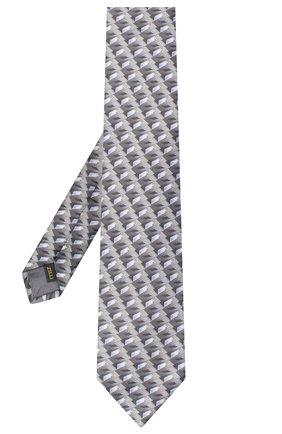 Мужской шелковый галстук ZILLI серого цвета, арт. 51102/TIE | Фото 2