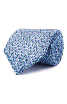 Мужской шелковый галстук ZILLI синего цвета, арт. 51099/TIE | Фото 1
