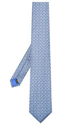 Мужской шелковый галстук ZILLI синего цвета, арт. 51099/TIE | Фото 2