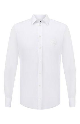 Мужская хлопковая сорочка DOLCE & GABBANA белого цвета, арт. G5EJ0Z/GE013 | Фото 1