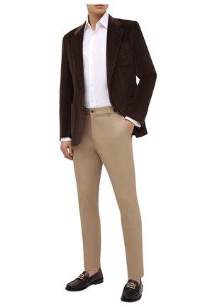 Мужской хлопковый пиджак DOLCE & GABBANA коричневого цвета, арт. G20S5Z/FUVB2 | Фото 2