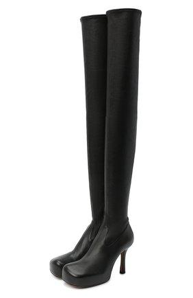 Женские кожаные ботфорты bv bold BOTTEGA VENETA черного цвета, арт. 630168/VBP40 | Фото 1