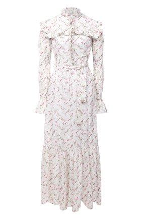 Женское хлопковое платье PHILOSOPHY DI LORENZO SERAFINI белого цвета, арт. J0425/5748 | Фото 1