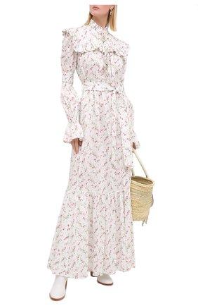 Женское хлопковое платье PHILOSOPHY DI LORENZO SERAFINI белого цвета, арт. J0425/5748 | Фото 2