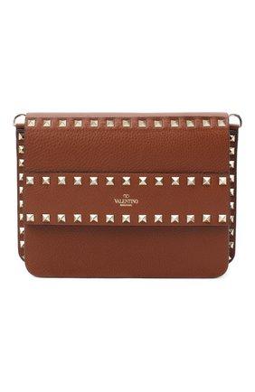 Женская сумка valentino garavani rockstud VALENTINO коричневого цвета, арт. UW2B0E86/YRK | Фото 1