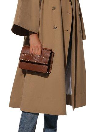 Женская сумка valentino garavani rockstud VALENTINO коричневого цвета, арт. UW2B0E86/YRK | Фото 2