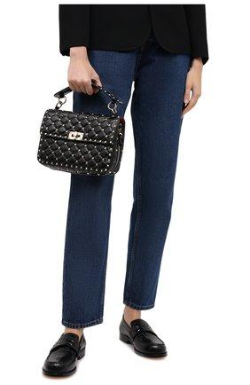Женская сумка valentino garavani rockstud spike VALENTINO черного цвета, арт. UW2B0E87/ACV | Фото 2