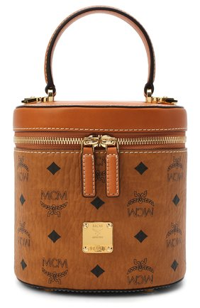 Женская сумка cylinder MCM коричневого цвета, арт. MWR AACG01   Фото 1