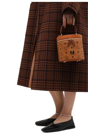 Женская сумка cylinder MCM коричневого цвета, арт. MWR AACG01   Фото 2