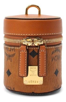 Женская сумка cylinder MCM коричневого цвета, арт. MWR AACG03   Фото 1