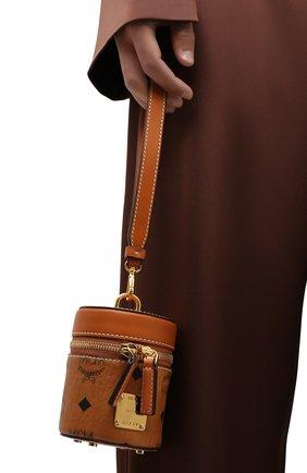 Женская сумка cylinder MCM коричневого цвета, арт. MWR AACG03   Фото 2
