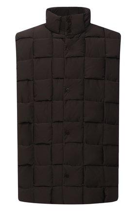 Мужской пуховый жилет BOTTEGA VENETA темно-коричневого цвета, арт. 644982/VF4K0 | Фото 1
