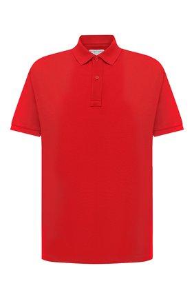 Мужское хлопковое поло BOTTEGA VENETA красного цвета, арт. 631006/V01G0 | Фото 1