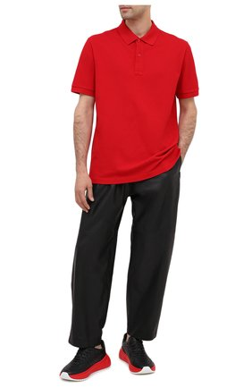 Мужское хлопковое поло BOTTEGA VENETA красного цвета, арт. 631006/V01G0 | Фото 2