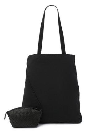 Мужская комплект из сумки и футляра BOTTEGA VENETA черного цвета, арт. 629237/VCQG2 | Фото 1