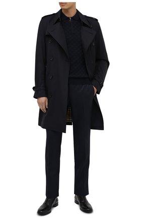 Мужское шерстяное поло CORNELIANI темно-синего цвета, арт. 86M506-0825101/00 | Фото 2