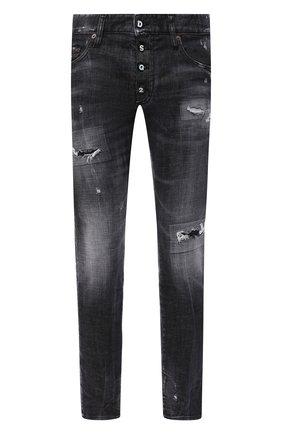 Мужские джинсы DSQUARED2 черного цвета, арт. S74LB0783/S30357 | Фото 1