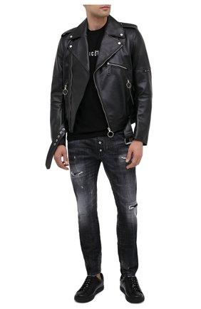 Мужские джинсы DSQUARED2 черного цвета, арт. S74LB0783/S30357 | Фото 2