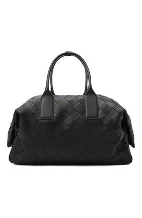 Мужская кожаная дорожная сумка BOTTEGA VENETA черного цвета, арт. 629144/VCRU2   Фото 1