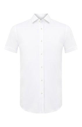 Мужская хлопковая рубашка BOSS белого цвета, арт. 50433054 | Фото 1